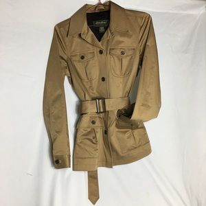 Eddie Bauer Tan Trench Coat Like New